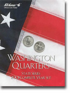 Harris Coin Folder - State Series Quarters Folders Complete Year 2001 Ref#8HRS2584