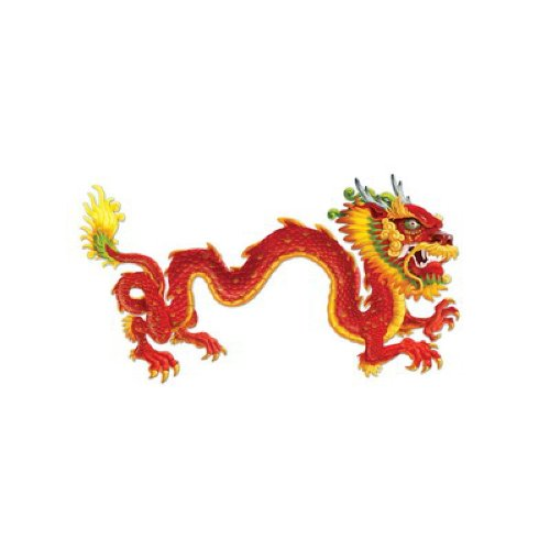 Beistle 57782 Jointed Dragon, 6-Feet