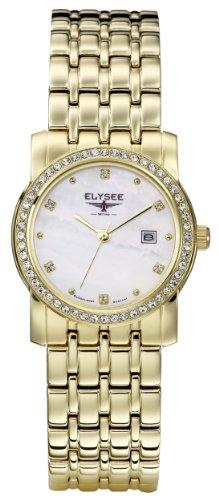 Elysee - 13261 - Montre Femme - Quartz Analogique - Bracelet Acier Inoxydable Doré