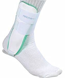 Mueller - Aircast Ankle Brace, Cast-like Support Air Chambers for ankle, Left Foot - White - OSFM