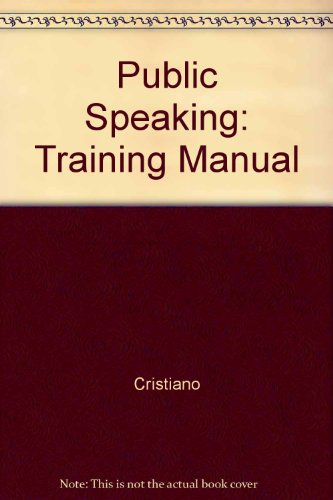 Public Speaking: Training Manual