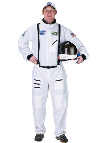 White Space Suit Costume Astronaut NASA Moon Landing Mens Theatrical Costume
