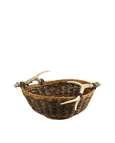 Napa Home & Garden Caribou Round Basket, Brown
