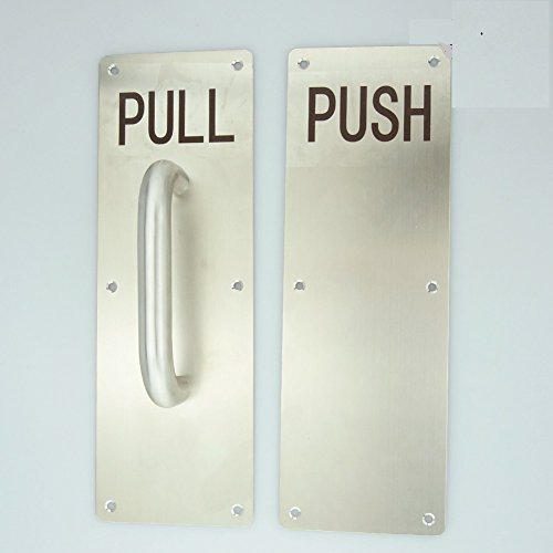 Super more stainess steel door handle pull and push plate for Door push plates
