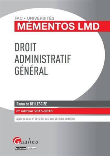 Droit administratif général 2015-2015