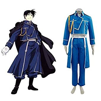 Fullmetal Alchemist Colonel Roy National Army Mustang Uniform,size S