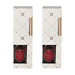 TWO (2) Aromatique 4 Ounce Reed Diffuser Refills with Replacement Reeds in The Smell of Christmas