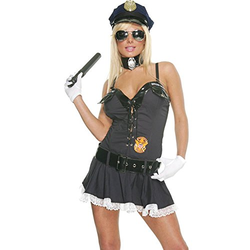 Adult Sexy Cop Lady Costume (Size: Small 2-6)