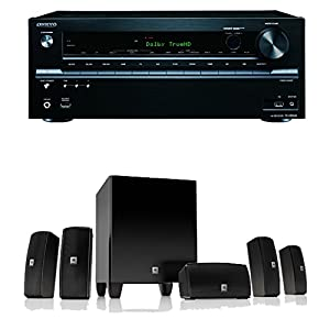 Onkyo TX-NR636 7.2-Channel Network A/V Receiver Plus A JBL Cinema 610 Advanced 5.1 Home Theater Speaker System by Onkyo