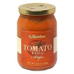 La Madeleine, Soup Tomato Basil, 15.5 OZ (Pack of 12)