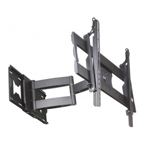 space saver full motion flat screen tv wall mount bracket for 32 inch to 55 inch screens. Black Bedroom Furniture Sets. Home Design Ideas