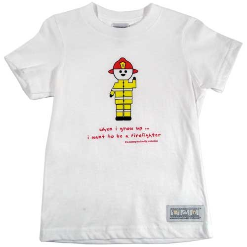 When I Grow Up ... I Want to Be a Firefighter T-shirt (6T)