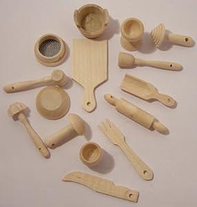 Lot 15 ustensiles de cuisine de petite taille bois de - Ustensiles de cuisine en anglais ...
