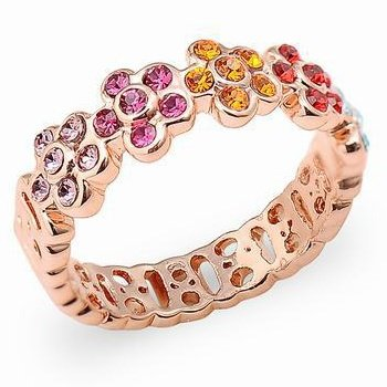 K-Design Alloy Upscale High-End European And American Fashion Rhinestone Opal Ring Daffodils Finger Rings For Women Accessories