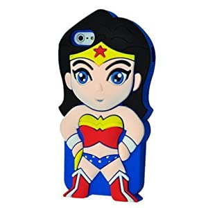 iPhone 6 Plus 6S Plus Case, Anya 3D Cute Bow Superhero Series Style Cartoon Soft Rubber Silicone Back Shell Case Cover Skin for Apple Iphone 6 6S Plus 5.5 inch superwoman at Gotham City Store