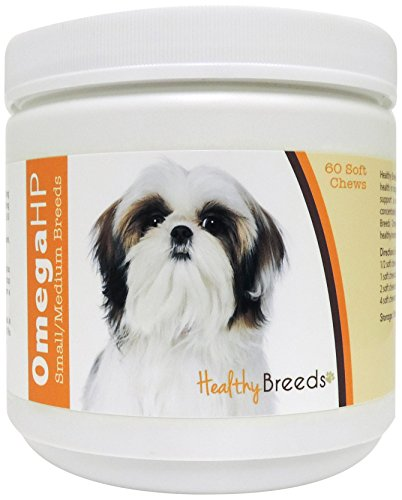 Healthy Breeds Omega-HP Skin and Coat Soft Chews,  Shih Tzu  / 60 Count (Omega Hp compare prices)