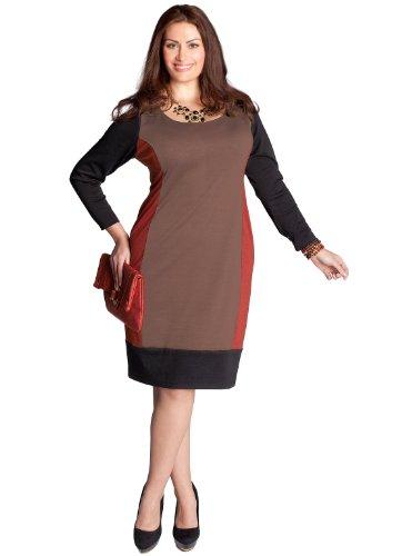 Buy IGIGI by Yuliya Raquel Plus Size Alexandra Colorblock Dress in Terracotta