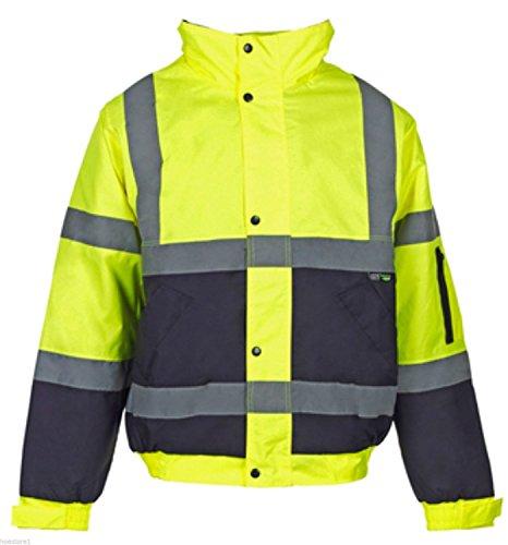 hommes-deux-tons-hi-visibilite-bombardier-reflechissante-veste-de-workwear-impermeable-a-leau