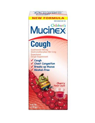 Mucinex Children's Mucinex Children's Expectorant/Cough Suppressant Cherry Flavor Liquid Expectorant/Cough Suppressant 4 Fl Oz