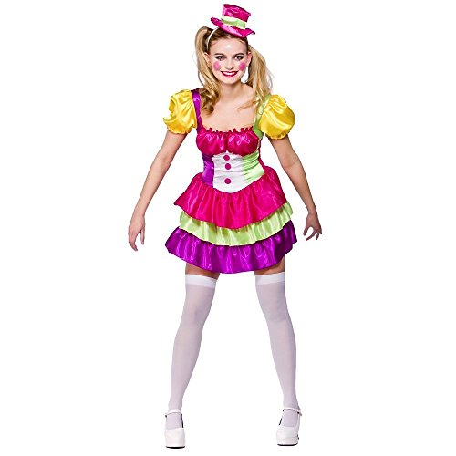 Adult Ladies Cute Clown Costume Women Fancy Dress