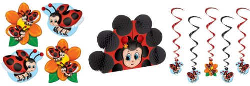 LADYBUG Party Decorations/Hanging WHIRLS/Cardboard Cutouts/LADY BUG CENTERPIECE/DECOR/Girl Parties