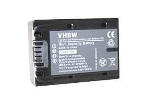 Batterie Li-Ion pourr SONY, remplace les modèles NP-FV30 / NP-FV40 / NP-FV50 - avec info-puce et visualisation de l'état de charge.