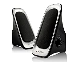MARVO V-130 Dual Sonic Speaker 2.0 Channel Computer Speakers for Apple Macbook Pro Air / Asus / Acer / Samsung / Dell/ Toshiba / HP / Sony Vaio and More