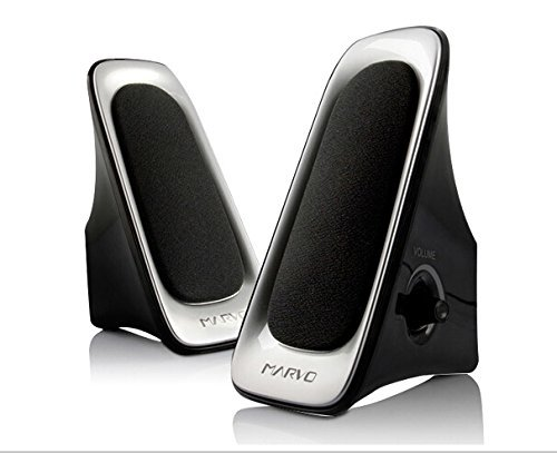nice design speaker have nice slim design based on black and sliver color can fit more notebook and computer powerful with small body speaker small size blackweb 20 powerful speaker system