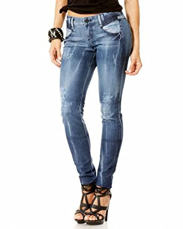 Valarie Distressed Skinny Jean :  jeans denim blue pants