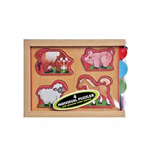 Melissa Doug Animals Mini Puzzle Pack
