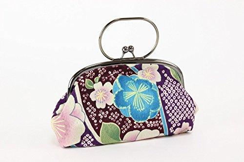 和柄バック がま口ポーチ バッグ 一本手 和小物 和装小物 収納 和柄 おしゃれ かわいい 和風 浴衣から着物まで幅広く使えます