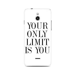 Motivatebox- Your Limit is YOU Premium Printed Case For InFocus M2 -Matte Polycarbonate 3D Hard case Mobile Cell Phone Protective BACK CASE COVER. Hard Shockproof Scratch-