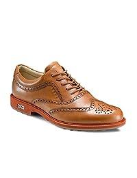Ecco Mens All Leather Tour Hybrid Wingtip Golf Shoe 141514/57863