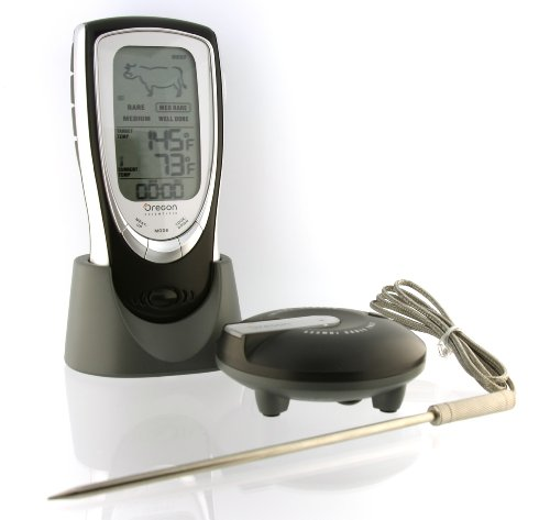 For Sale! Oregon Scientific AW131 Grill Right Wireless Talking Oven/Barbeque Thermometer, Black