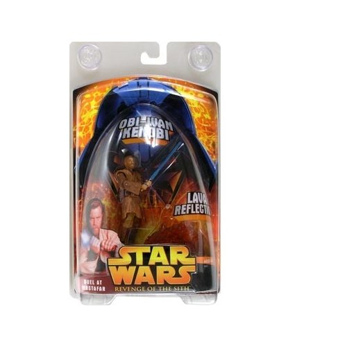 Star Wars E3 Revenge of the Sith Exclusive Action Figure ObiWan Kenobi Lava Reflection, Duel At Mustafar