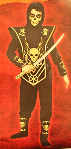 Skull Lord Ninja - Gold Costume Small 4-6X - 1