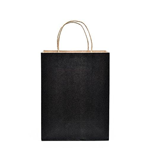 halulu-50-pcs-8x475x105-kraft-black-paper-handle-shopping-gift-merchandise-carry-retail-bags