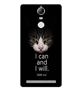 PRINTSWAG CAT QUOTE Designer Back Cover Case for LENNOVO K5 NOTE