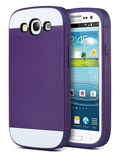 ULAK 4.8-Inch Hybrid Case with 2 Layer Cover PC and TPU Layers for Samsung Galaxy S3 - Purple (Samsung Galaxy S3 Case Jelly compare prices)