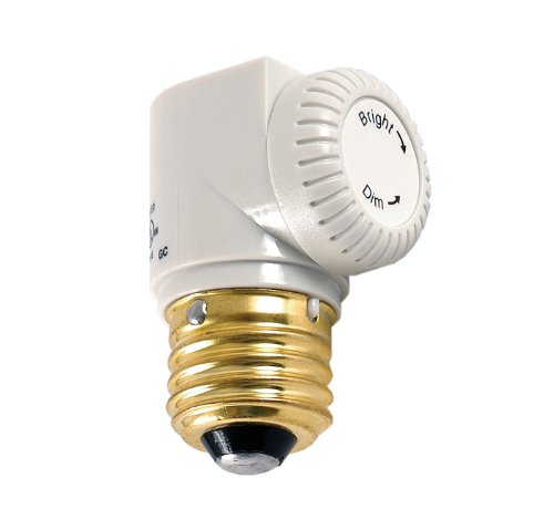 Ge Dimmer, Light Socket Indoor With Light Level Control Knob, White 55431