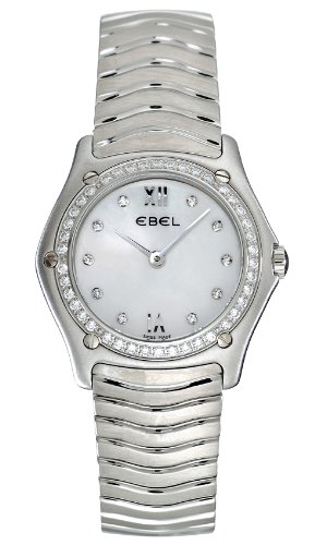Ebel Classic Wave Stainless Steel & Diamond Womens Watch 9090F24/9725