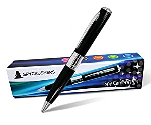 Spy Pen - Hidden Camera Pen - Great 720 HD Quality Digital Video Recorder - 4GB SD Card Included - PC WebCam - Easy USB Plug & Play For PC's & Mac's - Best Spy Pen Camera Pinhole DVR - Real Writing Executive Style BallPoint Pen - 30 Day Money Back Guarant
