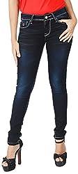 INTEGRITI Women's Slim Fit Jeans (ATTITUDE-LJ-101 EZYFT CRBNBL_26, Blue, 26)