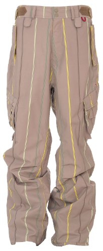 Foursquare Boswell Snowboard Pants Tan A Poppin Men's Sz X-Large