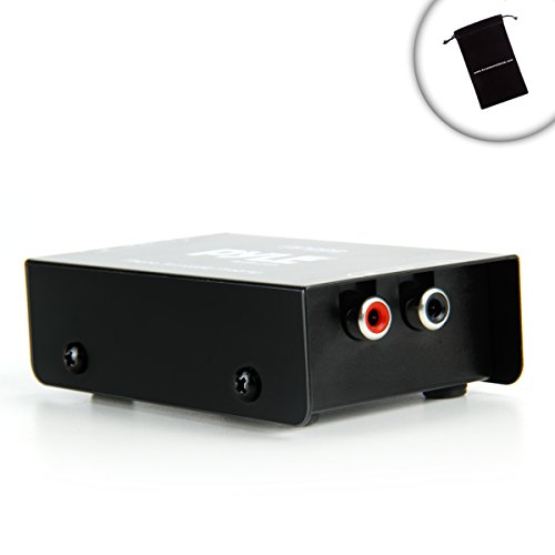 Mini Turntable Phono Preamp for Stereo Receivers / Connect Your Stereo Receiver to Turntables , Microphones , or other Audio Devices - Works with Sony STR-DN1040 / STR-DH130 , Yamaha RX-V373 / RX-V377 , Denon AVR-E300 , Onkyo TX-8020 / TX-8050 , Harman Kardon AVR 1700 , and Many More Receivers! *Includes Bonus Accessory Bag