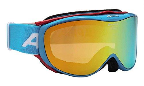 ALPINA Erwachsene Skibrille Challenge 2.0 MM, Lightblue, One Size, 7095882