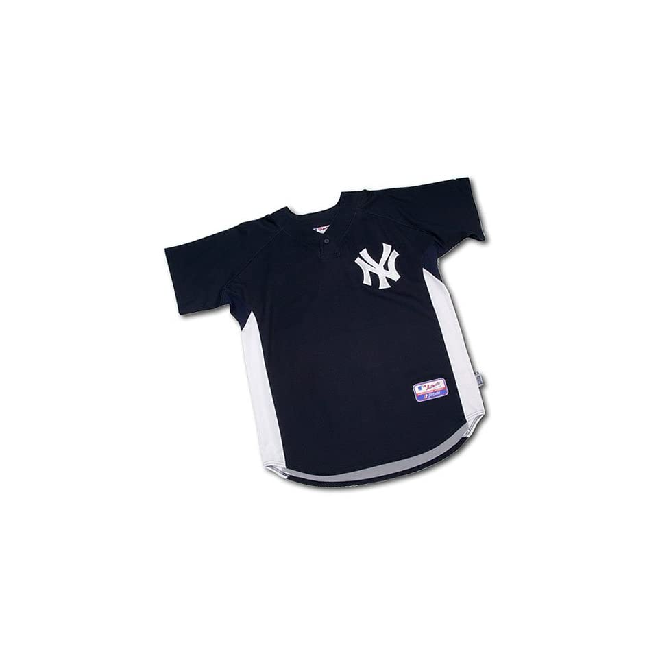3b27e12a62b New York Yankees Authentic MLB Cool Base Batting Practice Jersey by Majestic  Athletic (Medium)