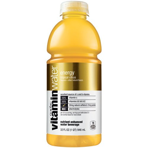 Vitamin Water Energy Tropical Citrus 32 Oz (15 Pack)