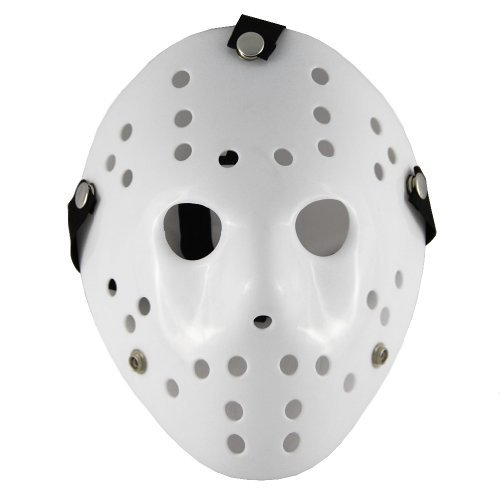 Friday the 13th Part3 Jason Hockey Halloween Deluxe HORROR MASK White - 1