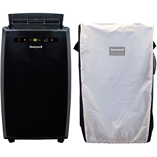 Honeywell MN12CESBB-C Portable Air Conditioner with Remote Control and Protective Cover, 12000 BTU, Black
